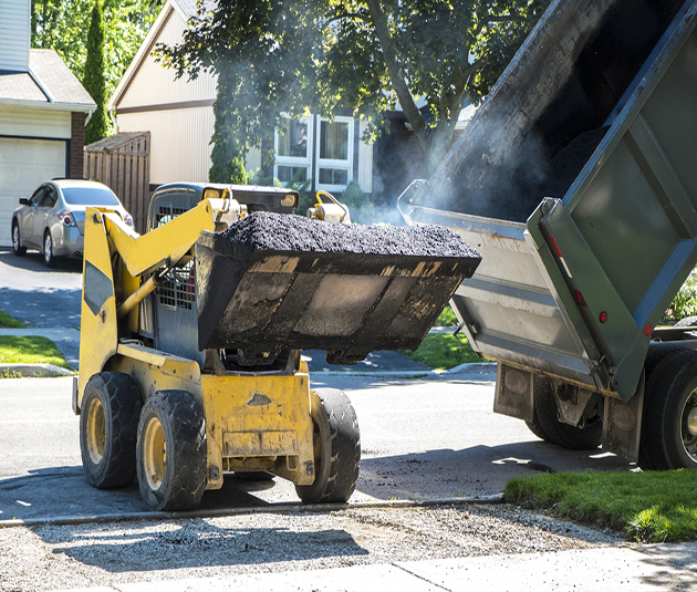 asphalt companies working in the heat