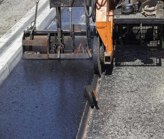 Installation of hard and cast molten asphalt 2 in Dallas